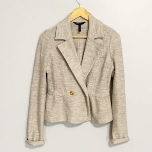 BCBGMaxAzria Gray Cotton Blazer.